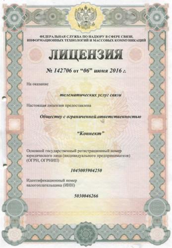 Лицензия №142706